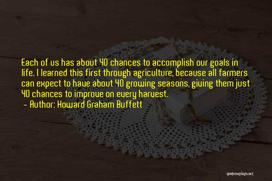 Done Giving You Chances Quotes By Howard Graham Buffett
