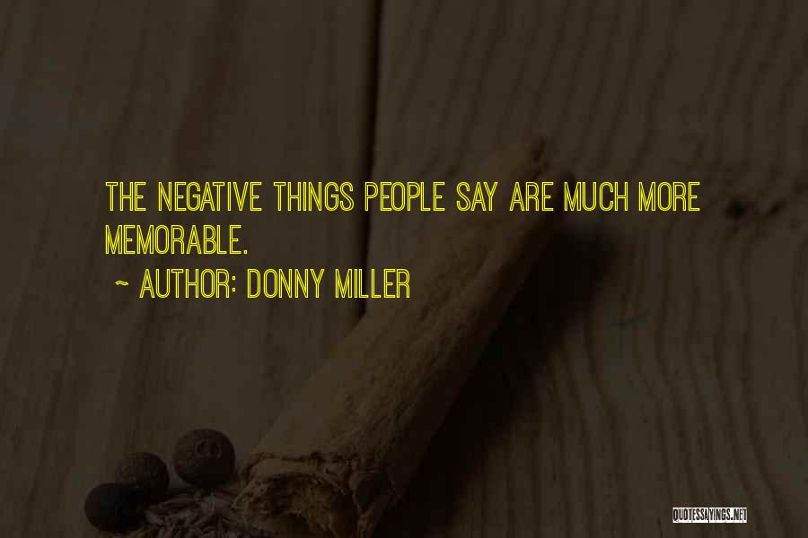 Donny Quotes By Donny Miller