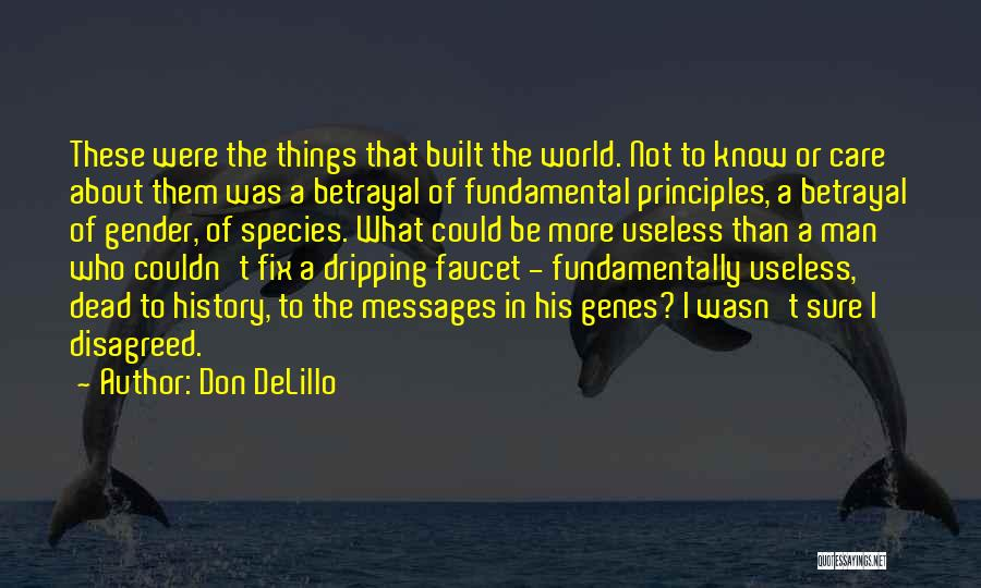 Don't Care About World Quotes By Don DeLillo