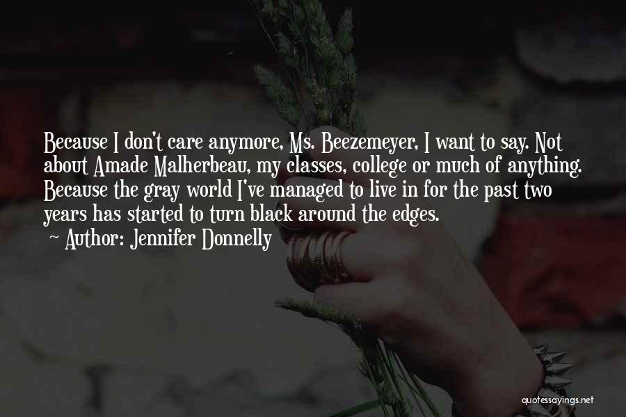 Don't Care About World Quotes By Jennifer Donnelly