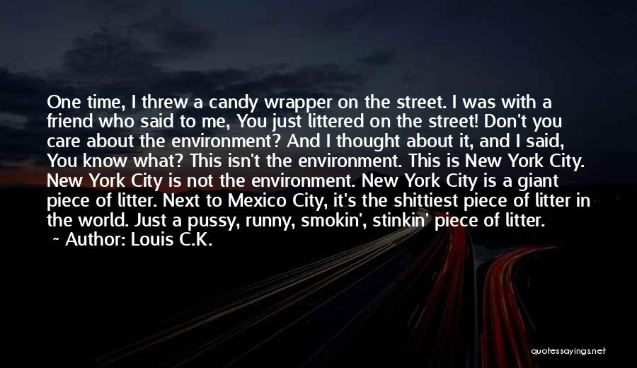 Don't Care About World Quotes By Louis C.K.