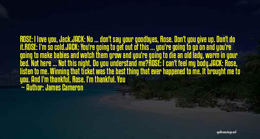 Don't Ever Give Up On Me Quotes By James Cameron
