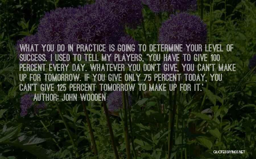 Don't Ever Give Up On Me Quotes By John Wooden