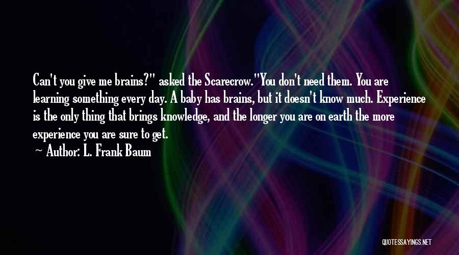 Don't Ever Give Up On Me Quotes By L. Frank Baum