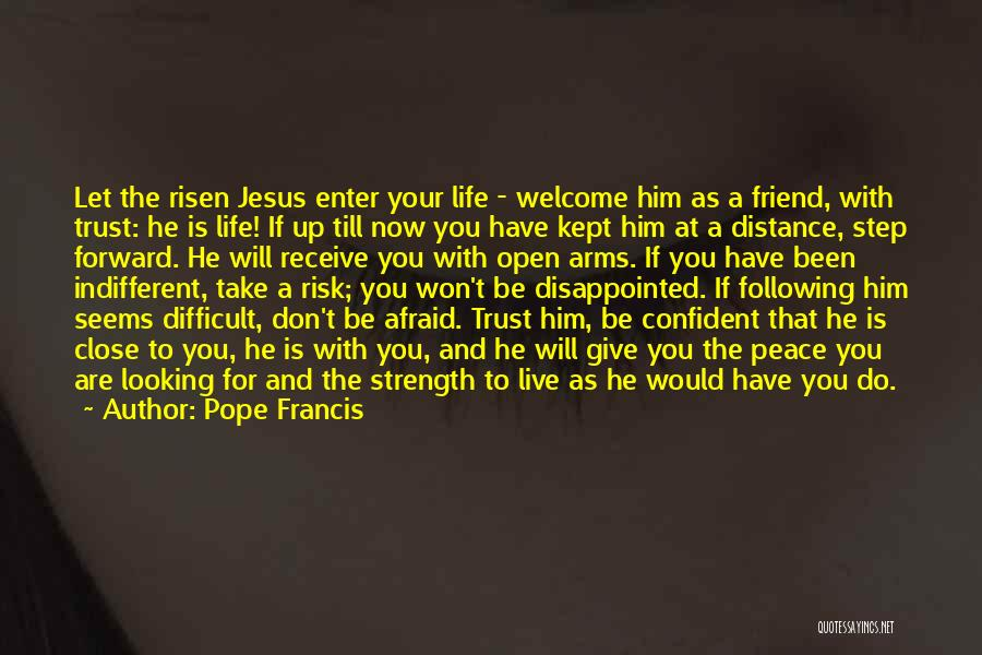 Don't Ever Give Up On Me Quotes By Pope Francis