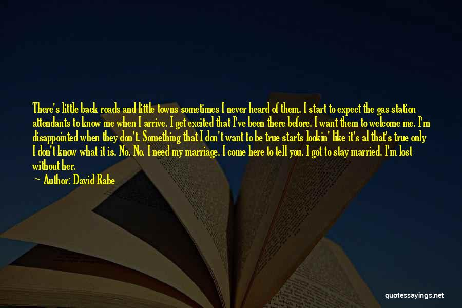 Don't Expect Me There Quotes By David Rabe