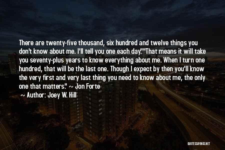 Don't Expect Me There Quotes By Joey W. Hill
