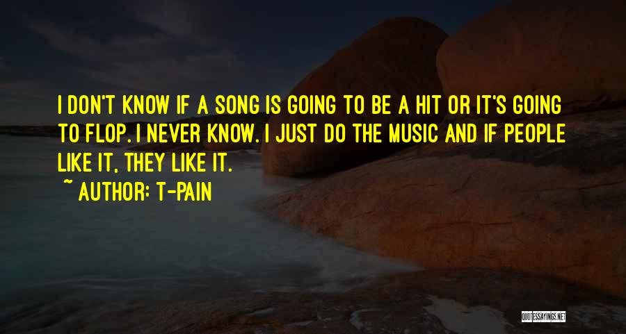 Don't Flop Quotes By T-Pain