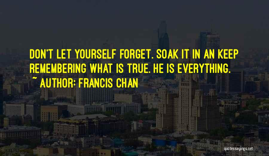 Don't Forget What We Had Quotes By Francis Chan