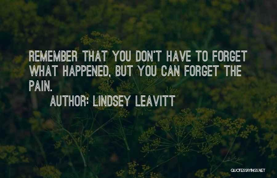 Don't Forget What We Had Quotes By Lindsey Leavitt