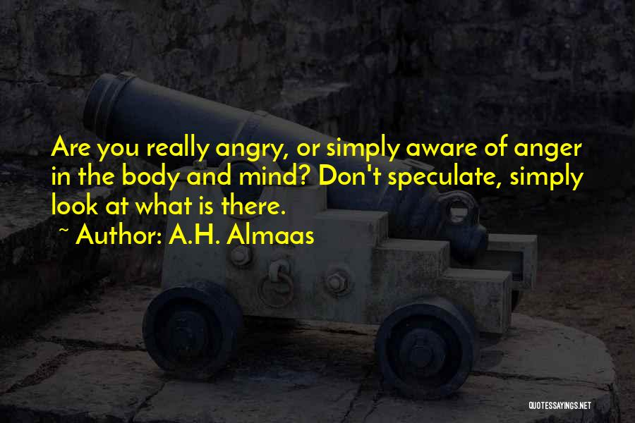 Don't Get Angry On Me Quotes By A.H. Almaas