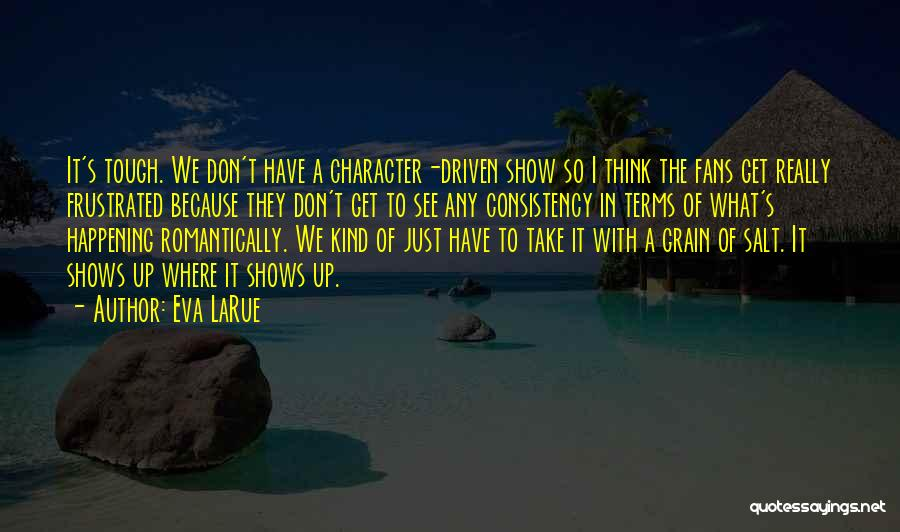 Don't Get Frustrated Quotes By Eva LaRue