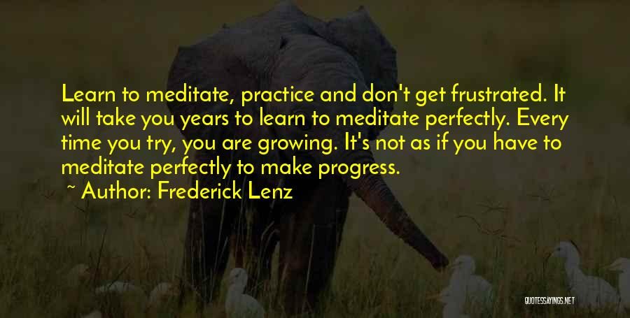 Don't Get Frustrated Quotes By Frederick Lenz