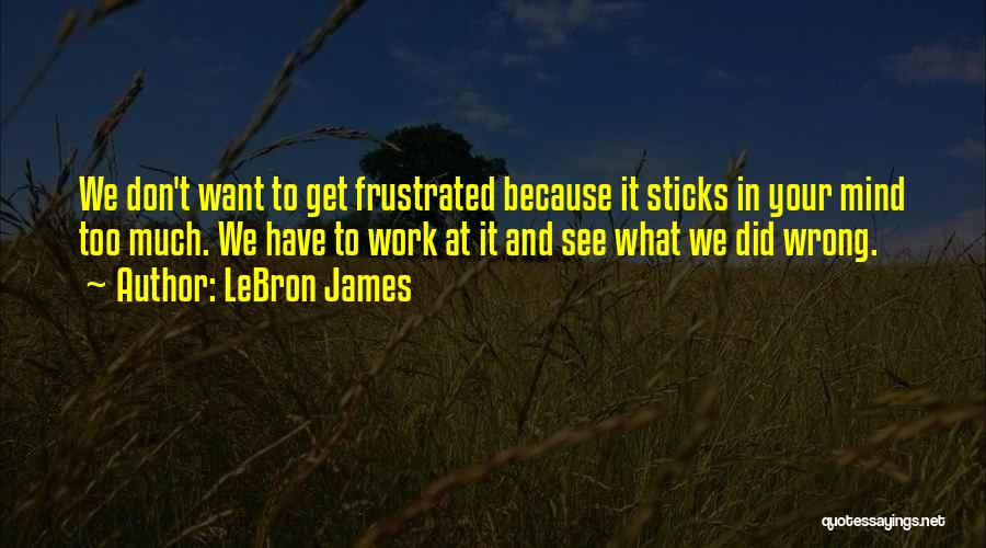 Don't Get Frustrated Quotes By LeBron James