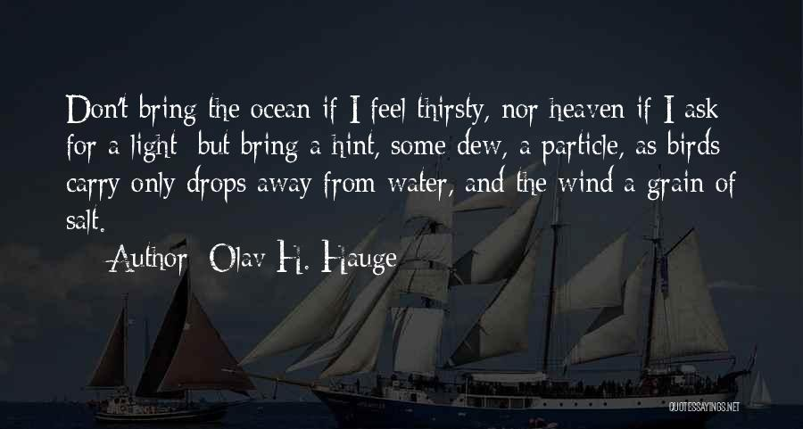 Don't Get The Hint Quotes By Olav H. Hauge