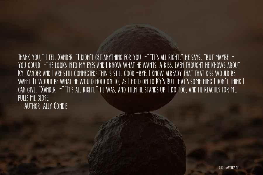 Don't Get Too Close To Me Quotes By Ally Condie