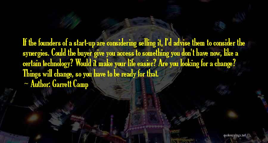 Don't Give It Up Quotes By Garrett Camp
