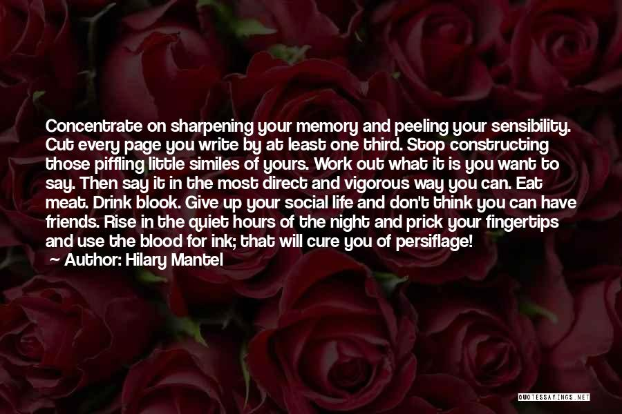 Don't Give It Up Quotes By Hilary Mantel