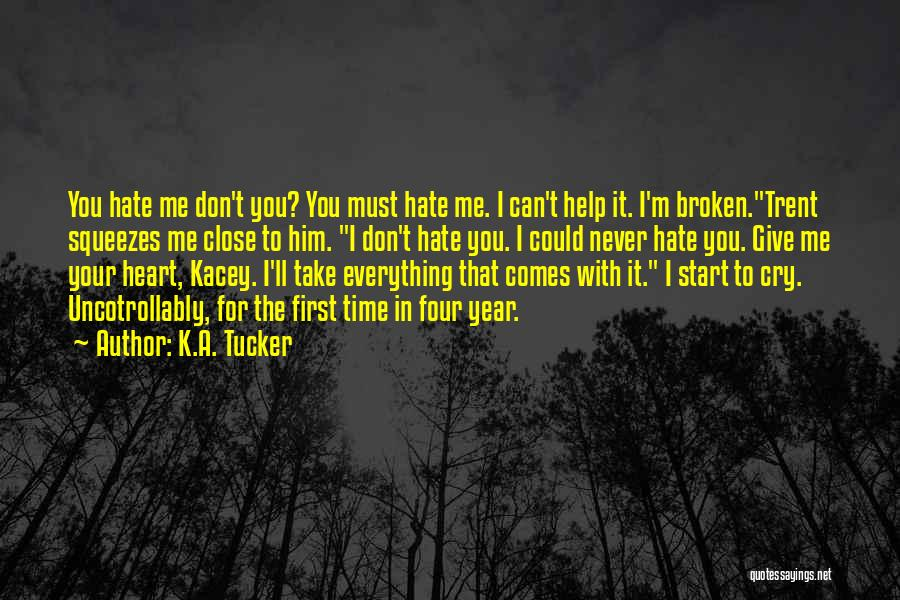 Don't Give Your Heart Quotes By K.A. Tucker