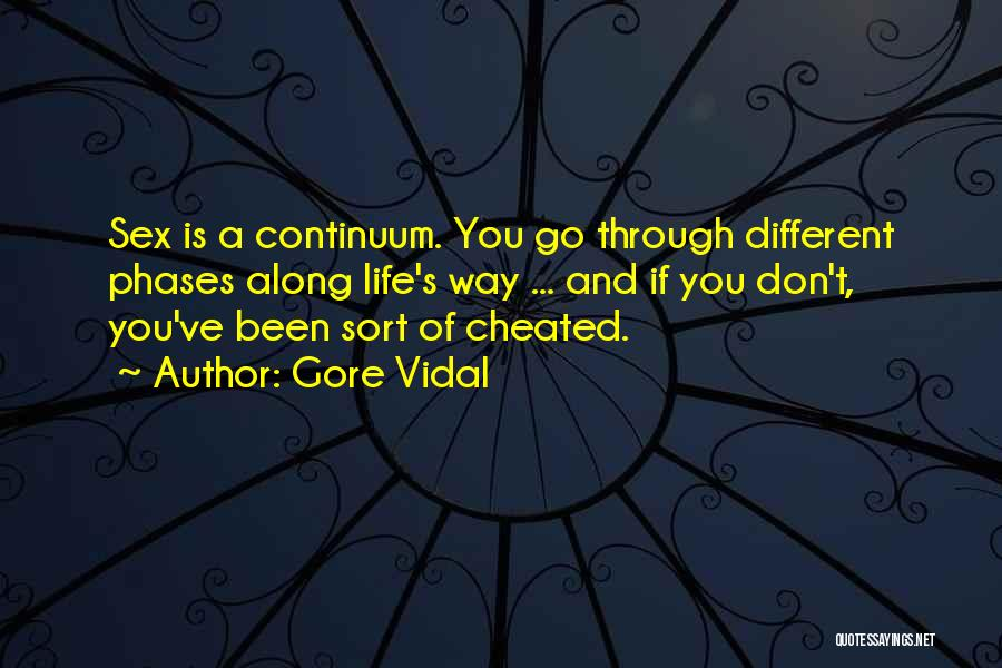 Don't Go Through Life Quotes By Gore Vidal