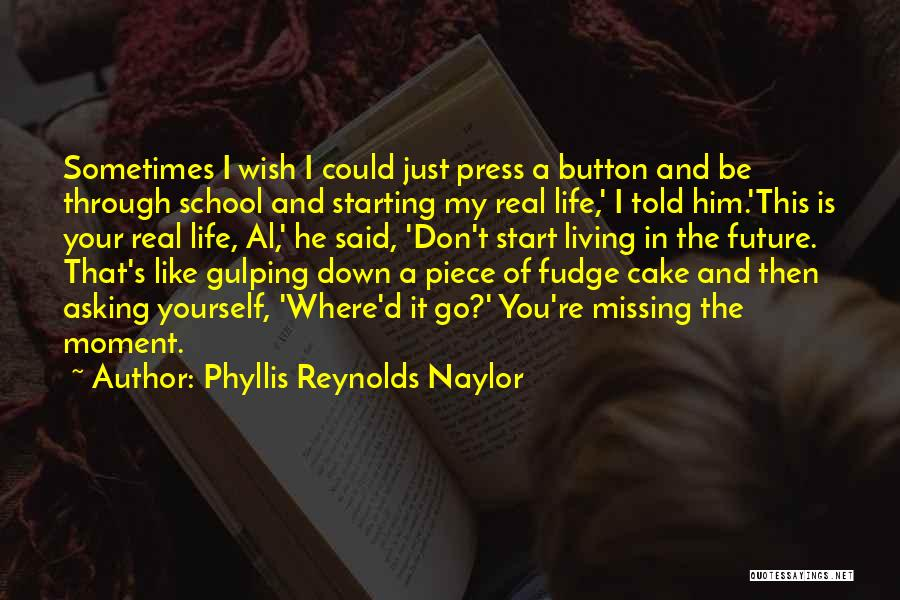 Don't Go Through Life Quotes By Phyllis Reynolds Naylor