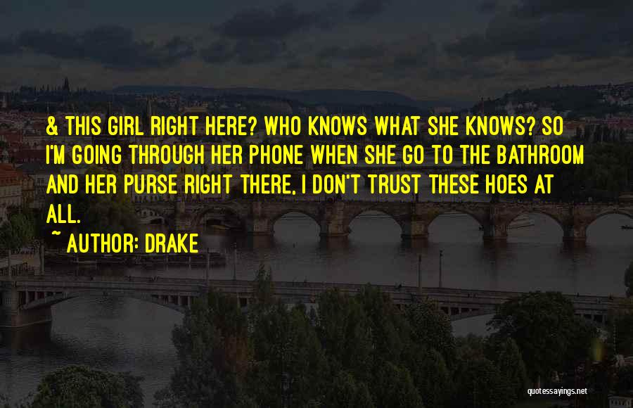Don't Go Through My Phone Quotes By Drake