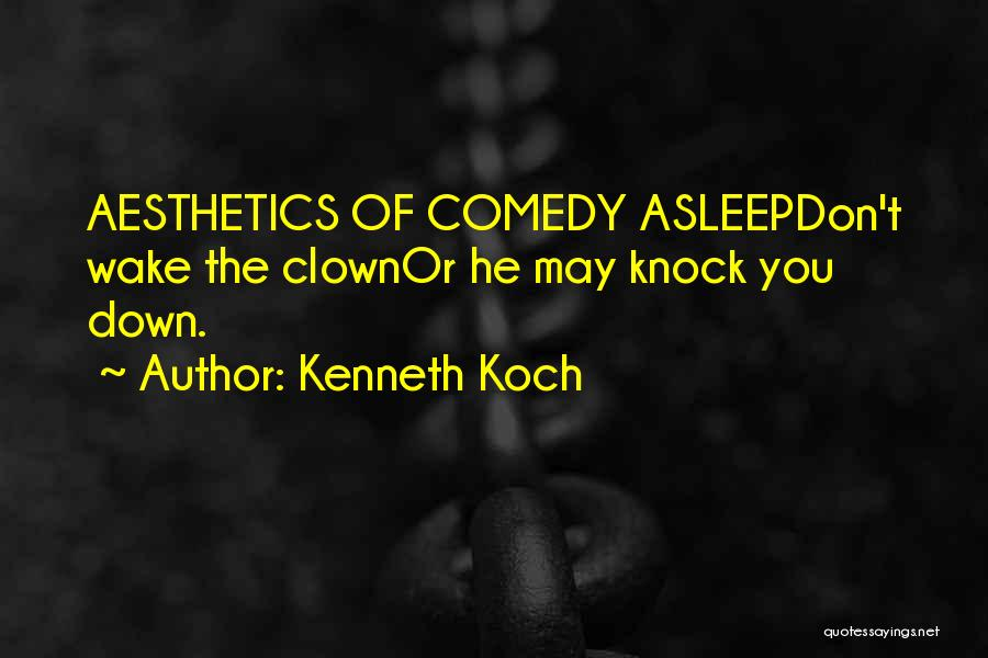 Don't Knock Me Down Quotes By Kenneth Koch