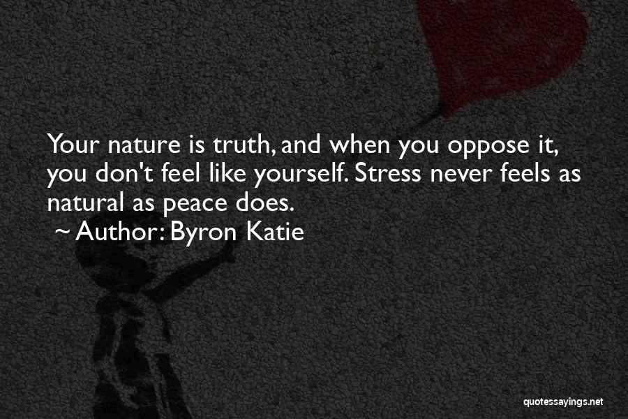 Don't Let Stress Quotes By Byron Katie