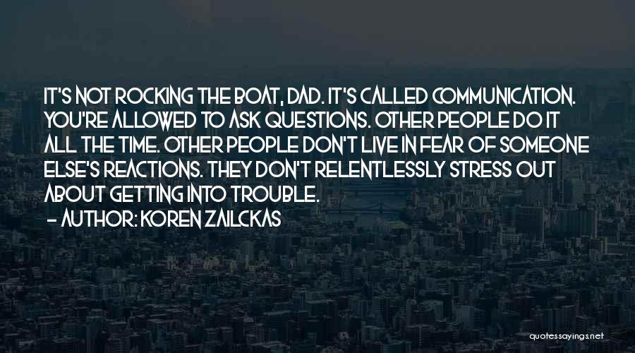 Don't Let Stress Quotes By Koren Zailckas