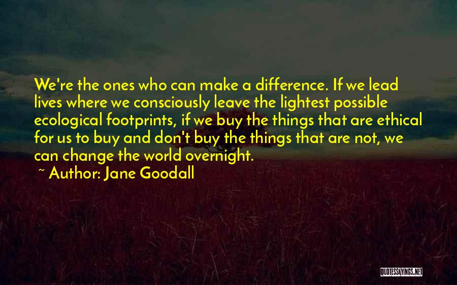 Don't Let The World Change You Quotes By Jane Goodall
