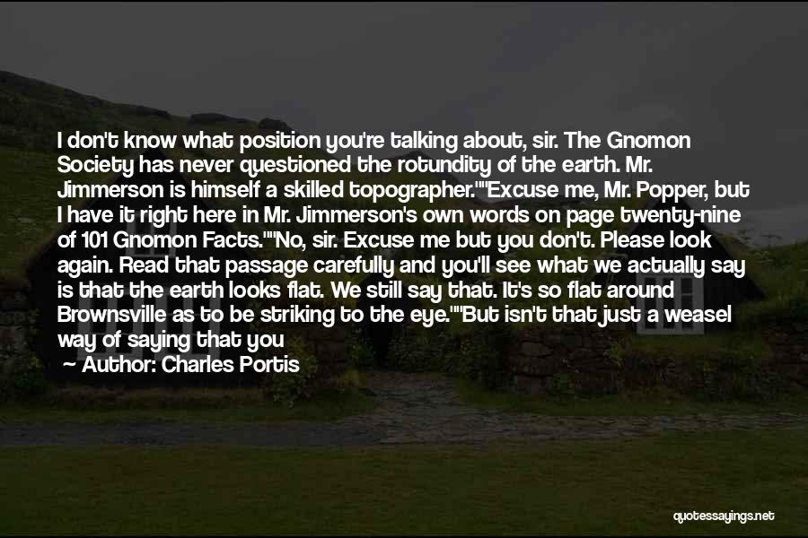 Don't Look Me In The Eye Quotes By Charles Portis