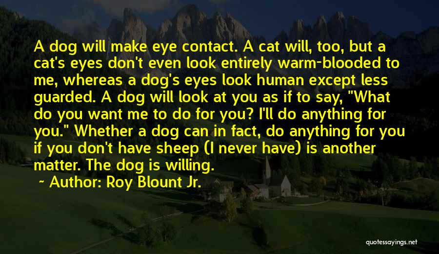 Don't Look Me In The Eye Quotes By Roy Blount Jr.