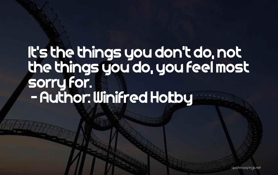Don't Regret It Quotes By Winifred Holtby