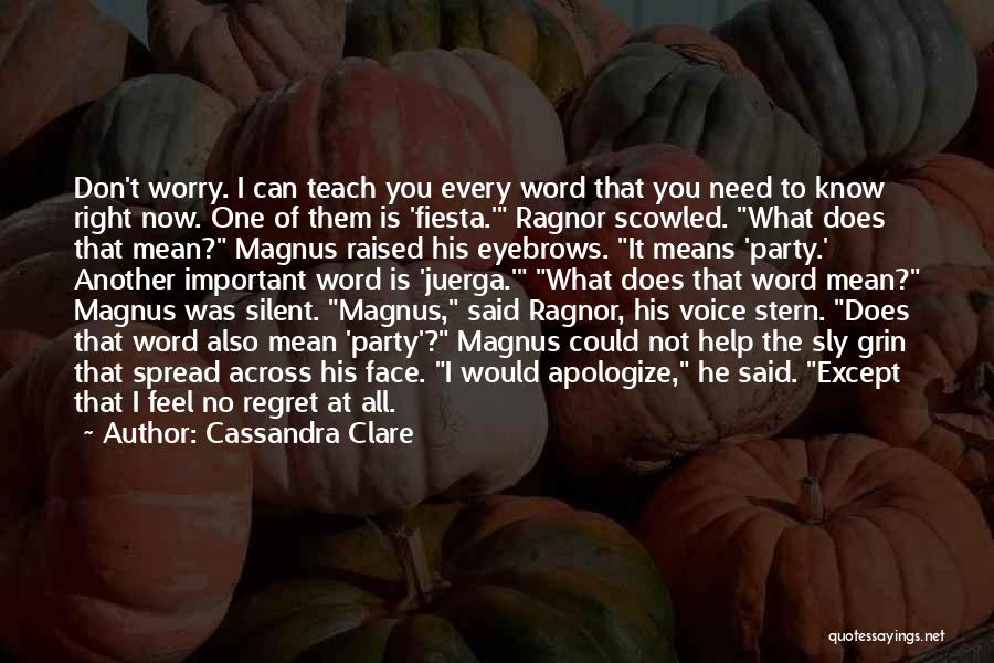 Don't Regret Quotes By Cassandra Clare