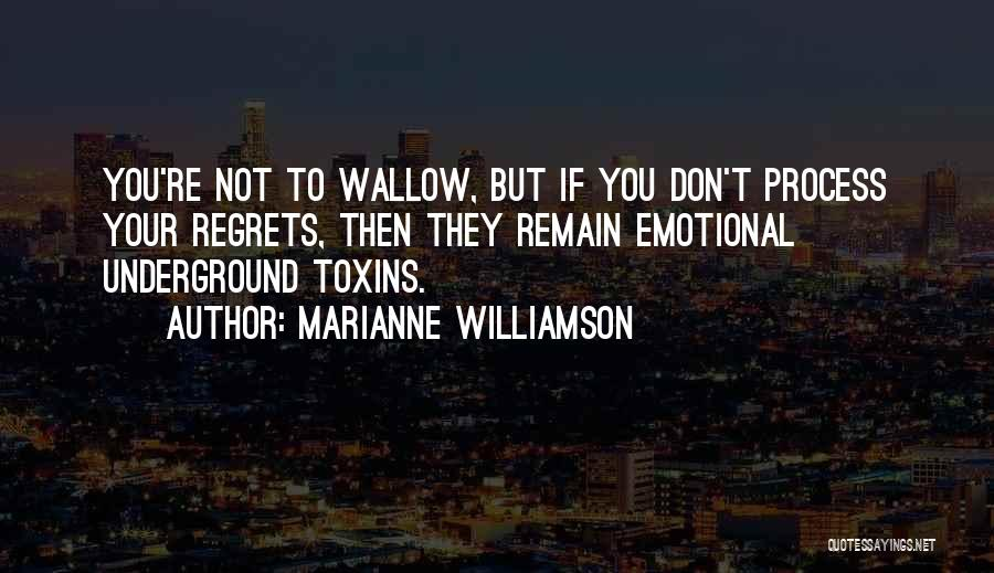 Don't Regret Quotes By Marianne Williamson
