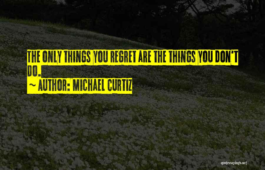 Don't Regret Quotes By Michael Curtiz