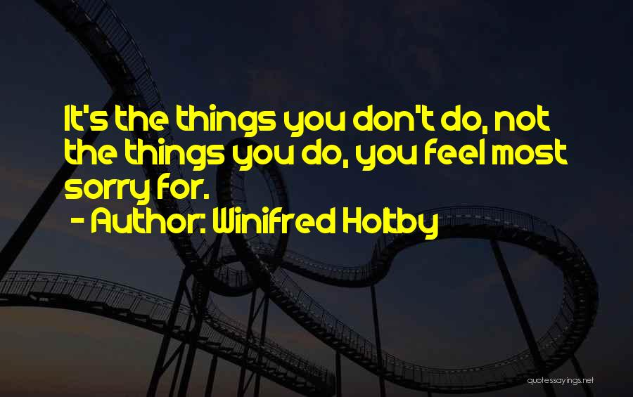 Don't Regret Quotes By Winifred Holtby