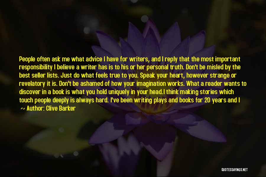 Don't Reply Then Quotes By Clive Barker