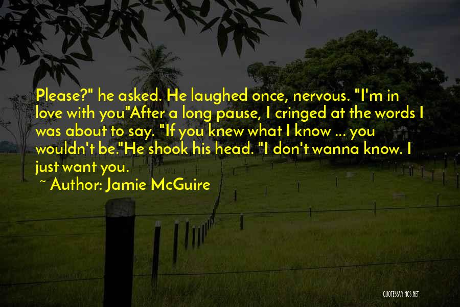 Don't Say I Love You Quotes By Jamie McGuire