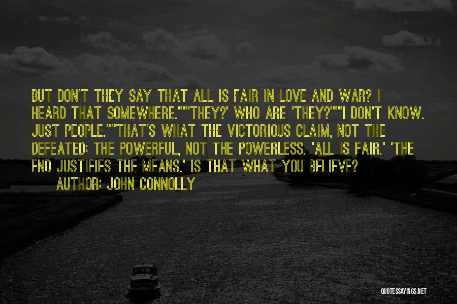 Don't Say I Love You Quotes By John Connolly