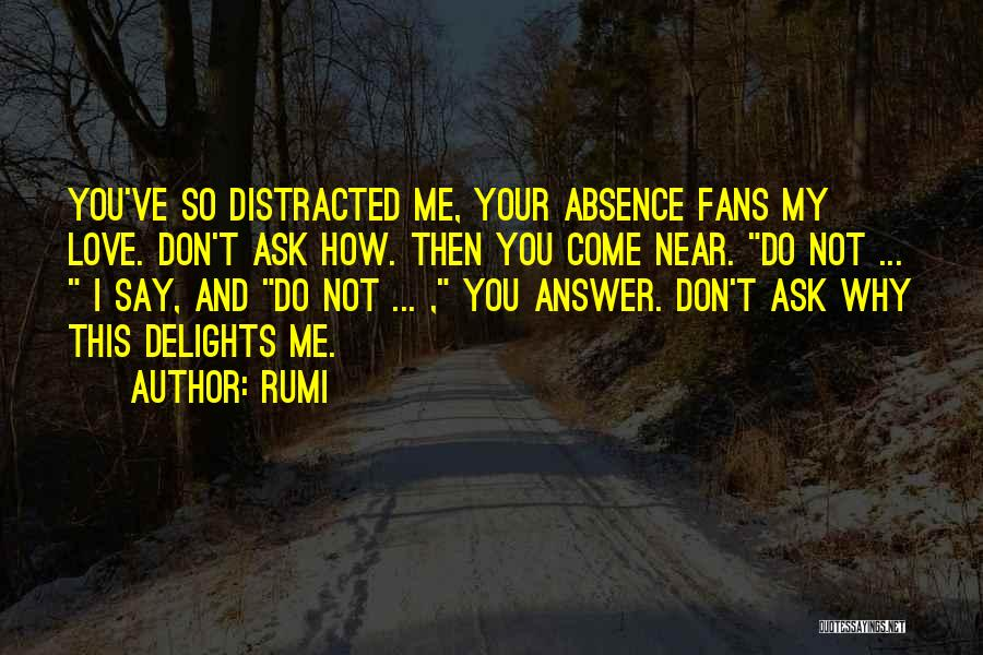 Don't Say I Love You Quotes By Rumi