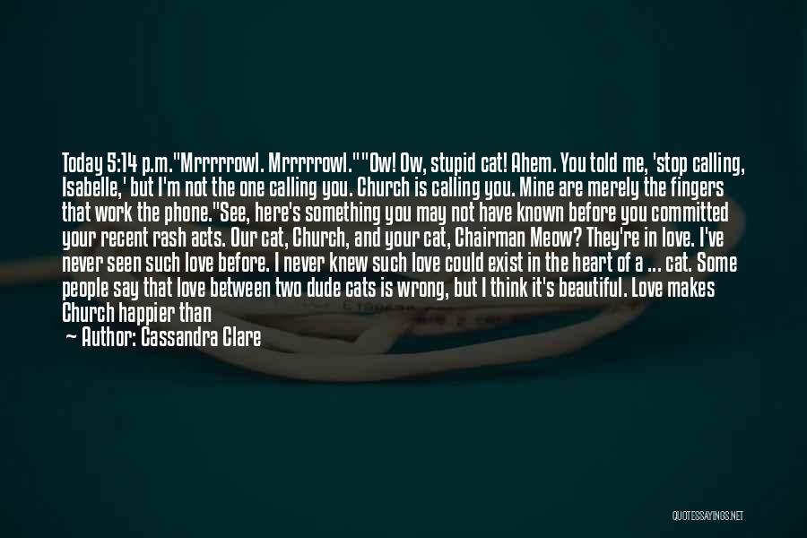 Don't Say You Love Me Quotes By Cassandra Clare