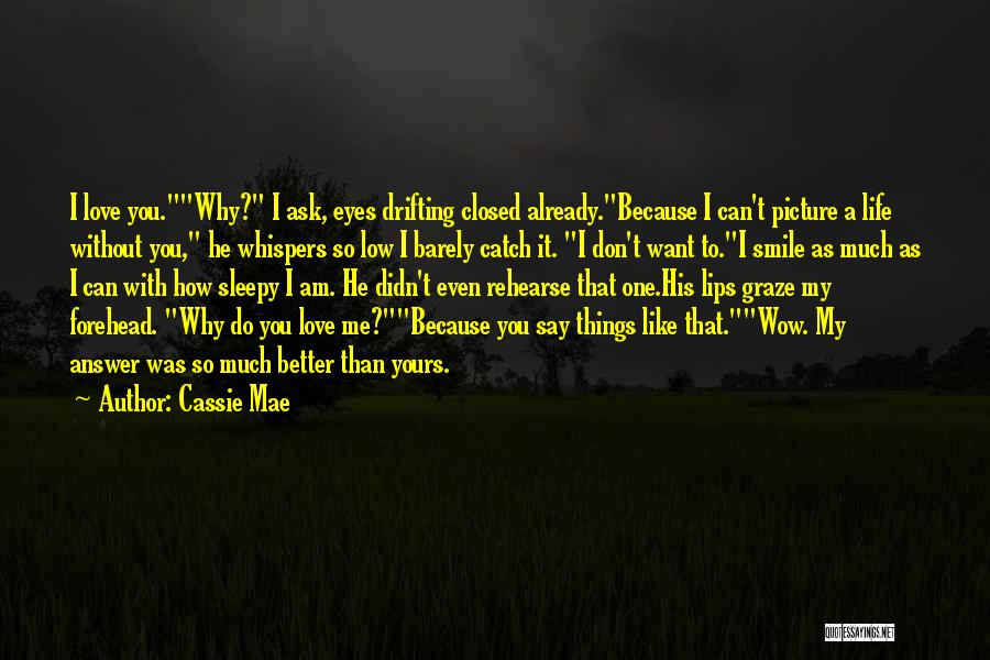 Don't Say You Love Me Quotes By Cassie Mae