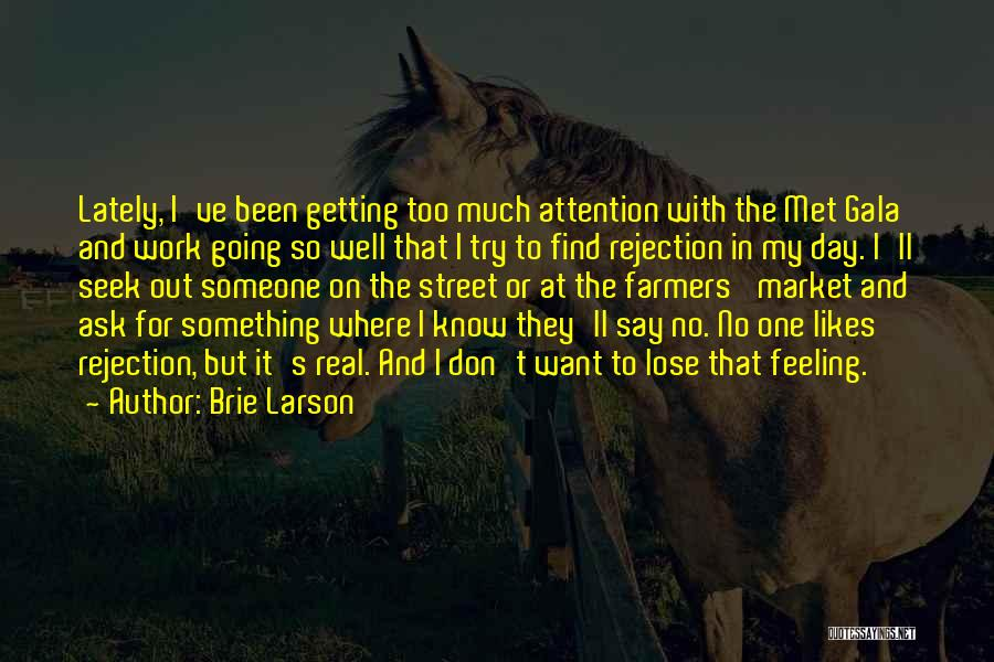 Don't Seek Attention Quotes By Brie Larson