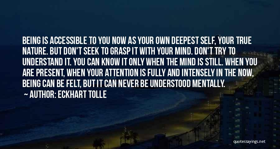 Don't Seek Attention Quotes By Eckhart Tolle