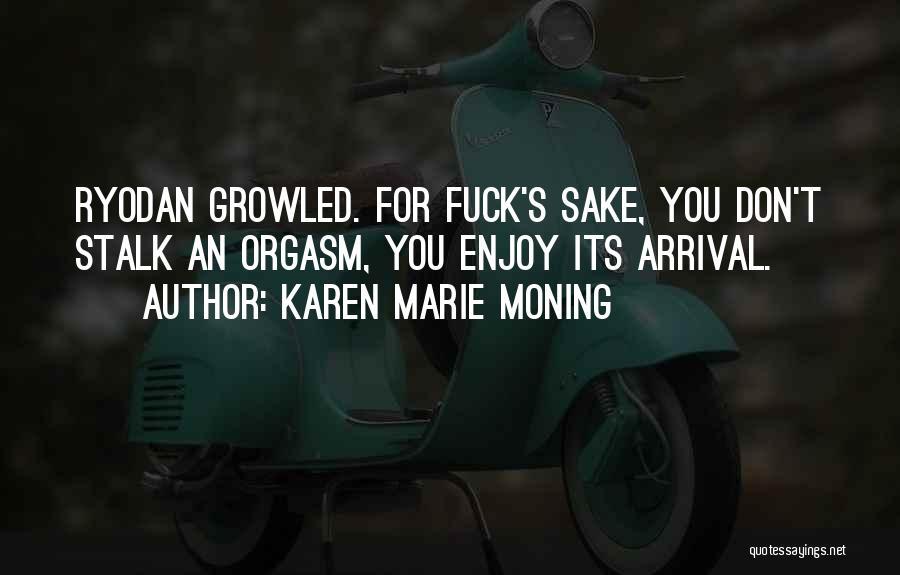 Don't Stalk Me Quotes By Karen Marie Moning