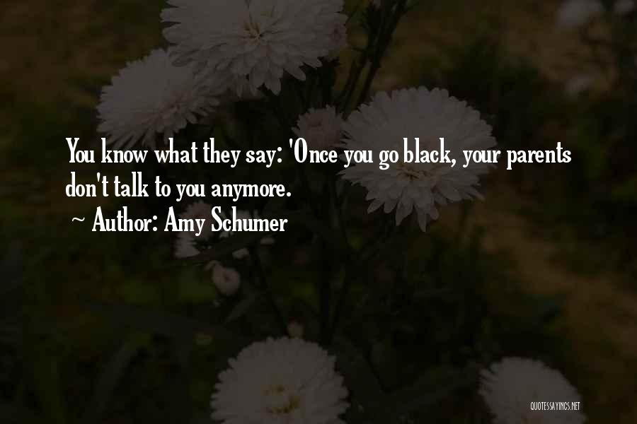 Don't Talk Anymore Quotes By Amy Schumer
