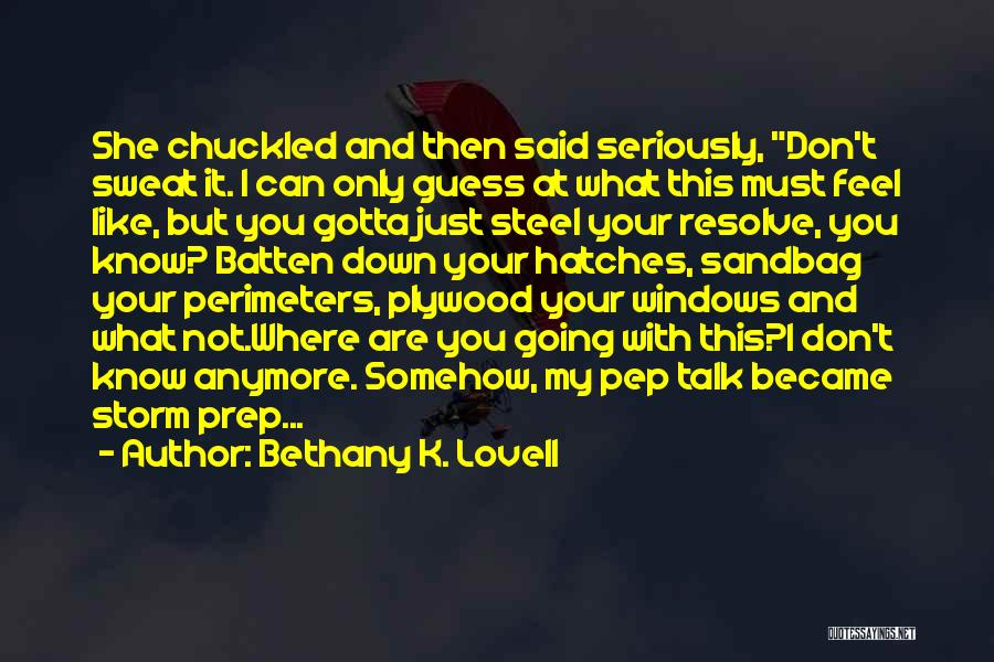 Don't Talk Anymore Quotes By Bethany K. Lovell