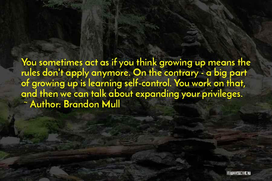 Don't Talk Anymore Quotes By Brandon Mull