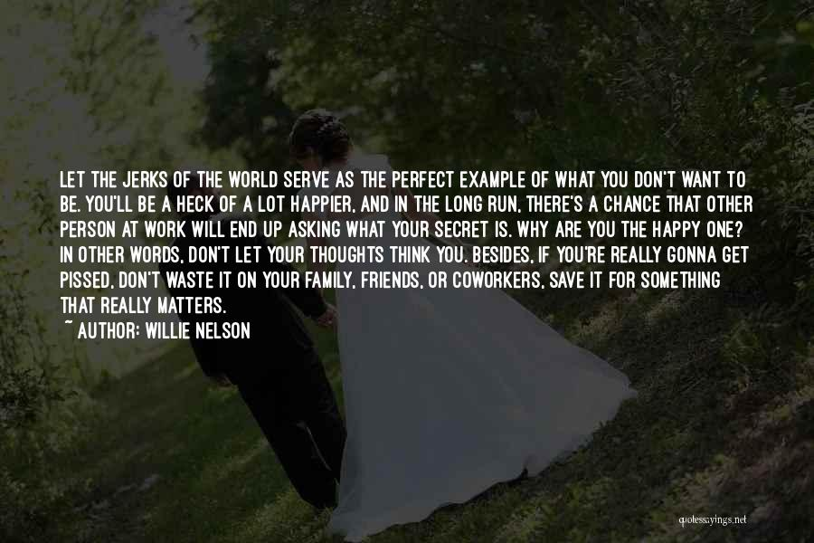 Don't Think You Are Perfect Quotes By Willie Nelson